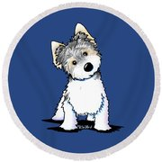 Cosmo Kiniart Petcature Portrait Round Beach Towel