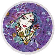 Hands Of India Round Beach Towel by Eva Campbell