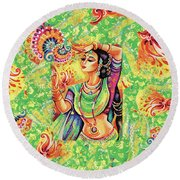 The Dance Of Tara Round Beach Towel