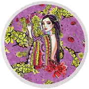 Soul Of India Round Beach Towel by Eva Campbell