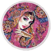 Kumari Round Beach Towel by Eva Campbell