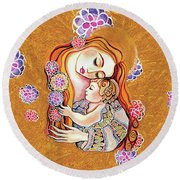 Little Angel Sleeping Round Beach Towel by Eva Campbell
