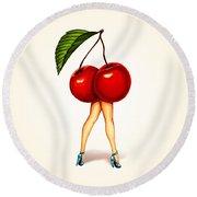Fruit Stand- Cherry Round Beach Towel