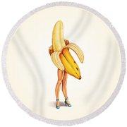 Fruit Stand - Banana Round Beach Towel