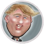 President Trump Round Beach Towel by Kevin Middleton