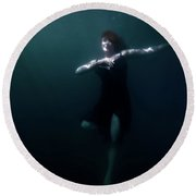 Round Beach Towel featuring the photograph Dancing Under The Water by Nicklas Gustafsson