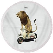 Lamb Round Beach Towel by Rob Snow