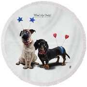 What's The Deely? Round Beach Towel