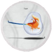 Popper Round Beach Towel by Rob Snow