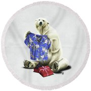 Cool Wordless Round Beach Towel by Rob Snow