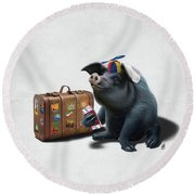 Might Wordless Round Beach Towel