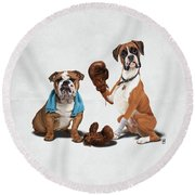 Raging Wordless Round Beach Towel