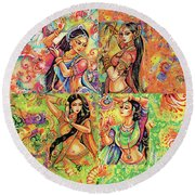 Magic Of Dance Round Beach Towel by Eva Campbell