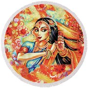 Sun Ray Dance Round Beach Towel by Eva Campbell