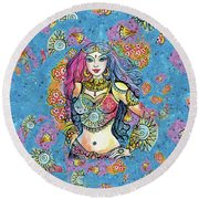 Kali Round Beach Towel by Eva Campbell