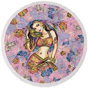 Karishma Round Beach Towel by Eva Campbell