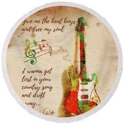 Round Beach Towel featuring the digital art Drift Away Country by Nikki Marie Smith