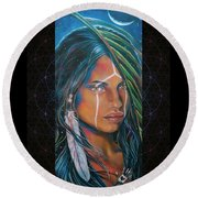 Shamanic Feelher Round Beach Towel