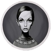 Celebrity Sunday - Twiggy Round Beach Towel by Rob Snow