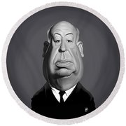 Celebrity Sunday - Alfred Hitchcock Round Beach Towel