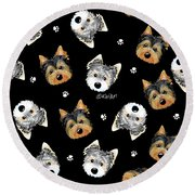 Cosmo And Chewie Portrait Round Beach Towel