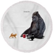 I Should, Koko Round Beach Towel by Rob Snow