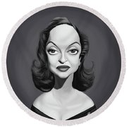 Celebrity Sunday - Bette Davis Round Beach Towel by Rob Snow