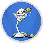 Maltese Martini Round Beach Towel