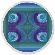 Universal Love Green Diamond Quad Round Beach Towel