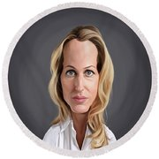 Celebrity Sunday - Gillian Anderson Round Beach Towel