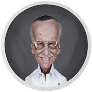 Celebrity Sunday - Stan Lee Round Beach Towel