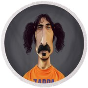 Celebrity Sunday - Frank Zappa Round Beach Towel