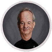 Celebrity Sunday - Bill Murray Round Beach Towel