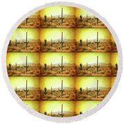 Table Moumtain Vintage Western Round Beach Towel