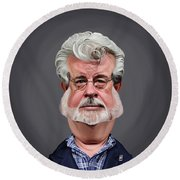 Celebrity Sunday - George Lucas Round Beach Towel