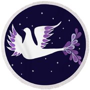 Prince Of Peace Round Beach Towel