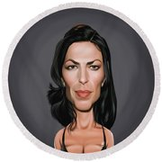 Celebrity Sunday - Claudia Black Round Beach Towel