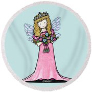Kiniart Faerie Princess Round Beach Towel