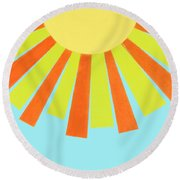 May Flowers Round Beach Towel