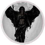 Dark Valkyrja Round Beach Towel