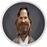 Celebrity Sunday - Jeff Bridges Round Beach Towel