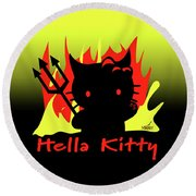 Hella Kitty Round Beach Towel