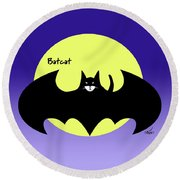 Batcat Round Beach Towel