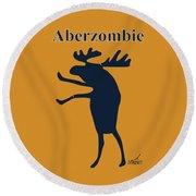 Aberzombie Round Beach Towel