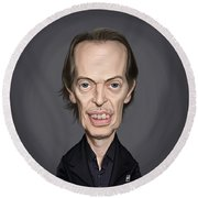 Celebrity Sunday - Steve Buscemi Round Beach Towel