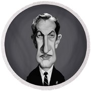 Celebrity Sunday - Vincent Price Round Beach Towel