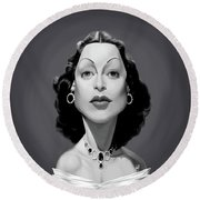 Celebrity Sunday - Hedy Lamarr Round Beach Towel