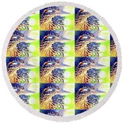 Greater Roadrunner Portrait 2 Round Beach Towel