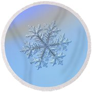 Round Beach Towel featuring the photograph Real Snowflake - Hyperion by Alexey Kljatov