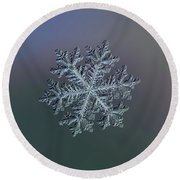 Real Snowflake - Hyperion Dark Round Beach Towel